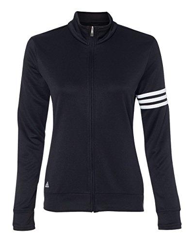 adidas Womens Climalite 3-Stripes Pullover A191 -Black/White XL