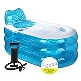 Aufblasbare Pools Aufblasbare Badewanne Whirlpool Badbadewanne Badewanne Für Erwachsene Zusammenklappbare Badewanne Einzelbadewanne PVC Mini-Badewanne + Handpumpe Schwimmbecken
