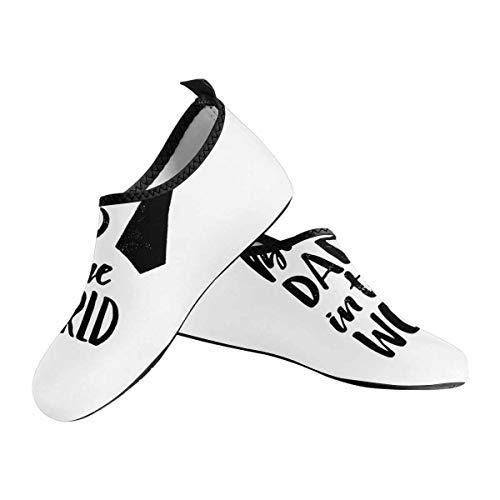 INTERESTPRINT Best Dad in The World-Womens Barefoot Shoes Beach Pool Sand Swim Surf Yoga Water Aerobics US6~US7