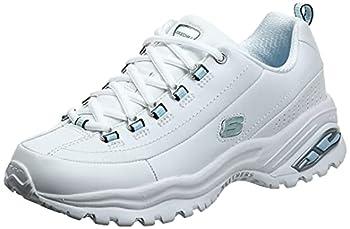 Skechers Sport Women s Premium Sneaker,White,8.5 M US