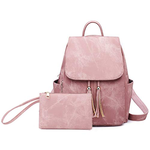 Ladies Backpacks, COOFIT Womans Back Pack Bag Women Backpack Ladies Rucksuck Waterproof Lightweight PU Leather Backpack with Magical Shoulder Strap Shoulder Bag Travel Bag Schoolbags with Small Purse