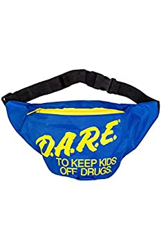 Neon Retro DARE Fanny Pack Waist Bags with Adjustable Waist Straps  Neon Blue