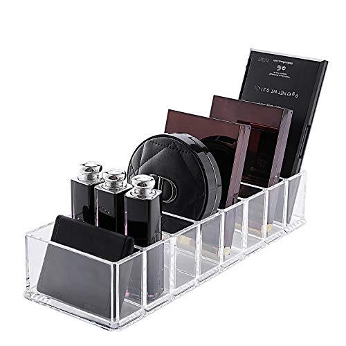 lureme Eyeshadow Organizer Clear Plastic Makeup Organizer Compact Powder Holder, 8 Space (cb000001)