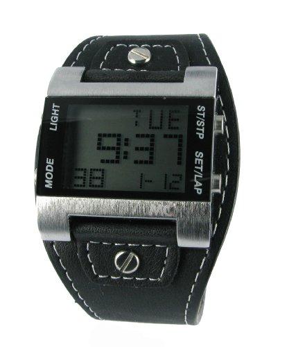 MC Timetrend Herren-Armbanduhr Digital Quarz Kunstleder 30337