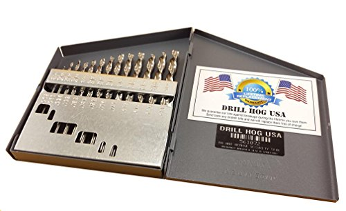 Drill Hog 13 Pc NIOBIUM Left Hand Drill Bit Set Index Drill...