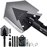 iunio Folding Shovel, 38'' Camping Shovel, Survival Multitool, Foldable Entrenching Tool, Portable Collapsible Spade, Off-Roading E-Tool Kit, for Camping, Backpacking, Trenching, Car Emergency