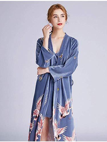 FGDSA Pijama de Terciopelo, camisón con Correa de grúas de otoño e Invierno para Mujer, Bata de Dos Piezas, Pijama de Grosor Medio, cinturón, cómodo en 3 Colores (Color: Rojo Vino, Talla: XXL)