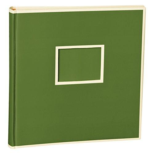 Semikolon (351100) Jumbo Album irish (dunkel-grün) - Fotoalbum/Fotobuch mit 50 Blättern cremeweißem Fotokarton mit Pergaminpapier - Format: 30x30 cm