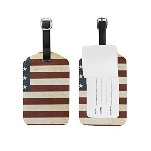 LORONA Estados UnidosOf America Usa Bandera Etiquetas de equipaje Cuerdas Etiqueta de identificación de viaje para maleta Equipaje de mano, 1 unidad