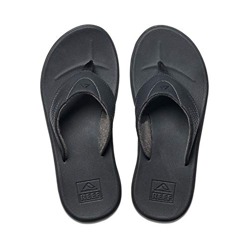 Reef Men's Sandals Rover | Water-Friendly Men's Sandal With Maximum Durability and Comfort | Waterproof, All Black, 10