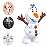 Electric Dancing Music Snowman Toy, electric Singing Dancing Snowman Robot Toy With Music Led Flashing Lights Baby Educational Gifts