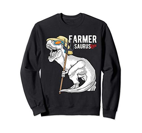 Farmersaurus Rex Dinosaur Farmer Saurus T Rex Funny Dino Sweatshirt