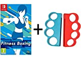 Fitness Boxing Game ( Switch) Fitness Boxing Hand Grips for Switch Joy-Con Gaming Finger Clasp Bundle
