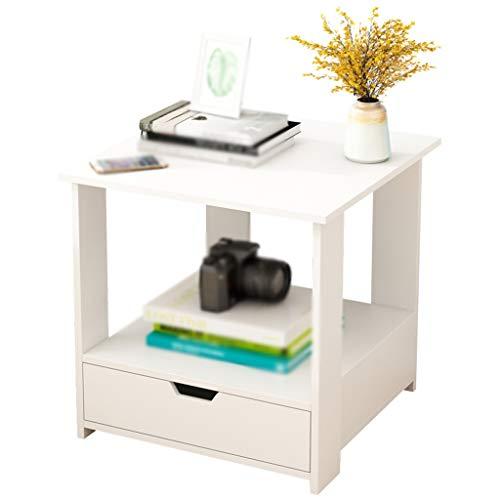 BZ-ZK SZQ-salontafel voor thuis en telefoon, hout, met laden, nachtkastje, slaapkamer, woonkamer, decoratieve meubels, grote opbergruimte, bijzettafel, bank tafel