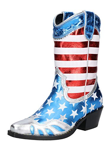Buffalo London Damen Cowboystiefel Gerda weiß 39
