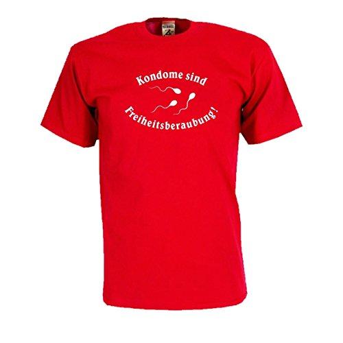 Kondome sind Freiheitsberaubung, lustiges provokantes Statement T-Shirt witziges Party Spaß T-Shirt oder Geschenk große Größen (SDR027) 5XL