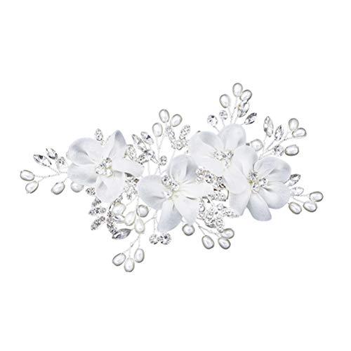 STOBOK Braut Blume Seite Haarspangen Perle Braut Kopfschmuck Exquisite Hochzeit Haarschmuck