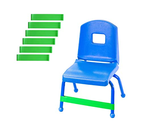 Chair Bands (6-Pack) | Bounce, Kick, Fidget, Concentration, Therapy, and Sensory Bands - Relieves: Anxiety, Hyperactivity, Frustration, and Extra Energy | Helpful with Autism, ADHD, ADD, and SPD