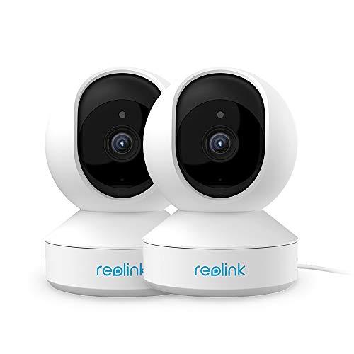 Reolink 4MP IP Kamera Überwachungskamera Innen WLAN schwenkbar, Dualband-WLAN, 2-Wege-Audio, Home und Baby Monitor mit Bewegungserkennung, E1 Pro(2Pack)