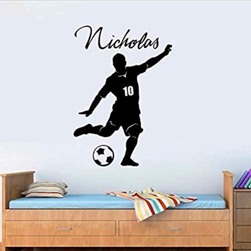 Pegatinas de pared Decoración de la habitación Fútbol Balón de fútbol y...