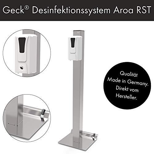 Desinfektionssystem Aroa | Mobil mit SensorTouch | Kontaktlose Desinfektionssäule mit Sensor | Geck®