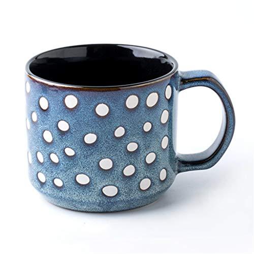 Série élégante tasse bleue en porcelaine, petit-déjeuner personnalisé Coupe du lait, Kiln Changer Glaze Artisanat, Décoration Motif peint à la main, for la maison Décoration, Cadeaux, Collection,375