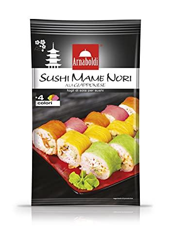Arnaboldi - Sushi Mame Nori alla Giapponese, Fogli di Soia per Sushi Colorati - 2 Confezioni da 8 Fogli - [16 Fogli di Soia in Totale]