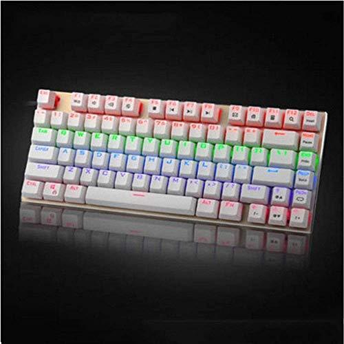 XIUYU Bunte-Hintergrundbeleuchtung 81 Schlüssel verdrahtete mechanische Tastatur grüne Welle