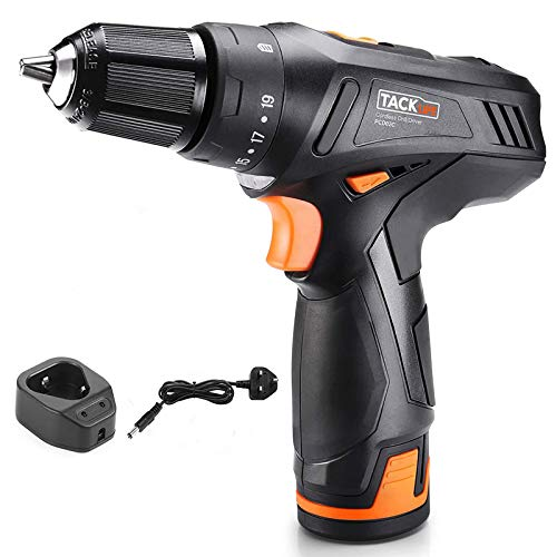 TACKLIFE Cordless Drill 12V,19+1Clutch,Variable Speed,Electric Screwdriver with 2.0Ah Lithium...