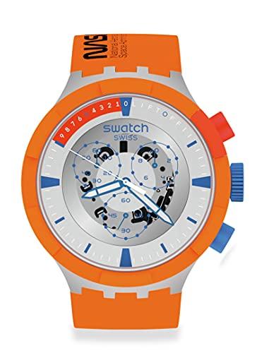 Swatch Big Bold Chrono BIOCERAMIC Correa de silicona de cuarzo, naranja, 20 reloj casual (modelo: SB04Z401)