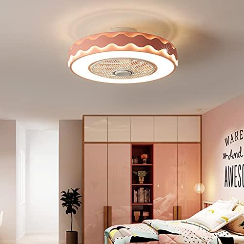 ACCZ Ventiladores de Techo con lámparas, Lámpara de Techo con Ventilador Silencioso Moderno, Luces de Techo Regulables con luz LED con Ventilador, Adecuado para Dormitorio Infantil y Sala de Estar