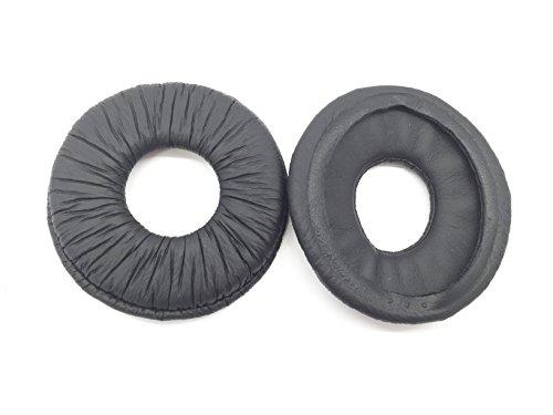 70mm Ersatz Leder rund Schaumstoff Polster Ohrpolster Cups Ohr Pads Kissen für Sony MDR-ZX100mdr-zx10MDR-ZX300mdr-zx310mdr-zx600AP mdr-v150mdr-v250mdr-v300mdr-v200Headset schwarz