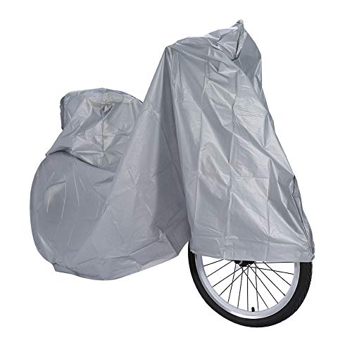Funda Impermeable para Bicicleta, Cubierta de Bicicleta a Prueba de Polvo, Funda Protectora de Moto para Bicicleta de Carretera de Montaña Bicicleta de Ciudad Bicicleta de Playa Cruiser, Gris