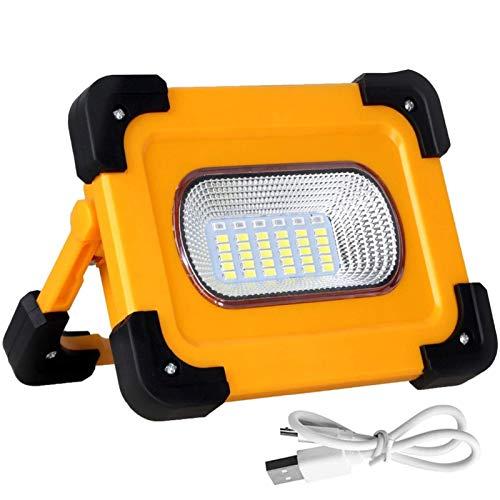 JSJJAUA Faroles de Mano Lámpara de Trabajo LED con 9000mAh Power Bank 160W Portátil COB Trabajo Light Light Solar Carga Light Light Light Light IMPROFESION (Emitting Color : Work Light)