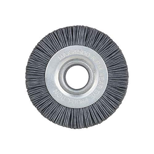 70mm alambre Nylon rueda Bench amoladora, cepillo abrasivo de pulido de la rueda de alambre de nylon 180 # para el procesamiento de madera 5/8 'agujero