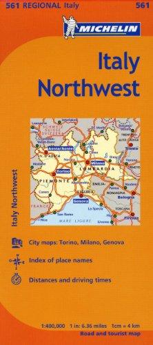 Michelin Italy: Northwest Map 561 (Maps/Regional (Michelin))