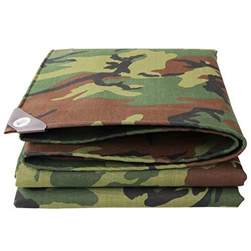 WDOPZMS Camouflage Canvas Tarpaulin Heavy Duty Waterdichte Tarps,Geschikt voor het Tuinen Vissen Hangmat Tent Tarp Shelter Gronddoek