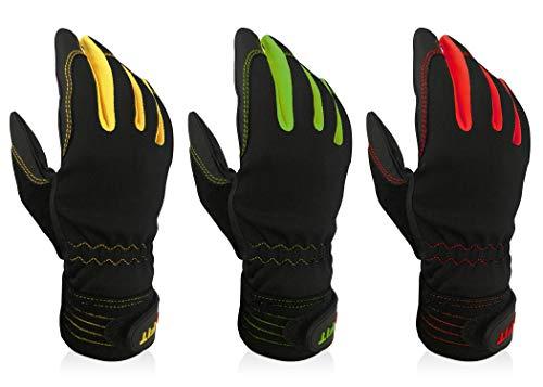 Intra-FIT 作業用手袋 日本製PU革 3双パック Mサイズ ワークグローブ 作業手袋 メカニックグローブ 多用途