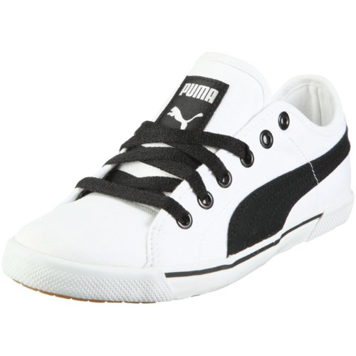 PUMA Benecio Canvas 350754, Unisex - Erwachsene Sneaker, Weiss  (white-black 05), EU 41  (UK 7.5)  (US 8.5)