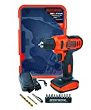 BLACK+DECKER LD12SP-IN 12V 10mm Li-ion Cordless Variable Speed Reversible Drill/Driver with 10 Screwdriver and 2 Drill Bits