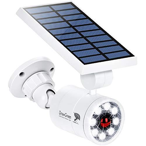 Solar Motion Sensor Light Outdoor Aluminum, 1400-Lumens 9W LED(130W Equi.), 2-Mode Spotlight, Solar Flood Emergency Security Lights for Driveway Patio Path Garden, 100-Week 100% Free Replacement