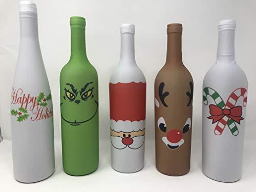 Holiday Gear Weinflaschenabdeckungen und Dekorationen für Weinflaschen, einzigartiges Weindekor, 5er-Set