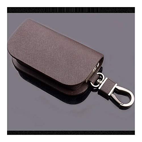 Gzjdtkj Portachiavi per Auto Unisex Moda Portachiavi coperture Chiave del Cuoio del Supporto di Chiave dell'automobile raccoglitori dell'organizzatore Zipper Key Borsa Custodia Borsa (Color : Brown)