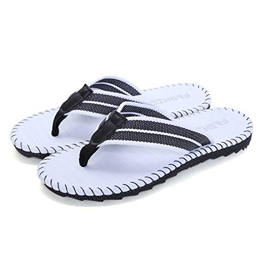 Uomo Infradito Estate Adulto Flip Flops Scarpe da Spiaggia e Piscina (white 36)