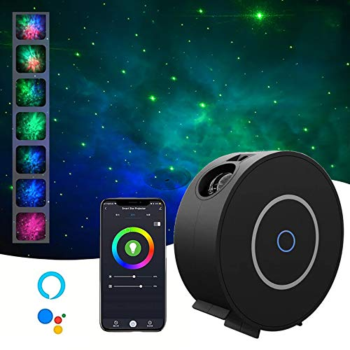 Led Sternenhimmel Projektor, Sternenlicht Galaxy Protektor Lampe, UnterstüTzt Sprachsteuerung Und Timing-Funktion, Kompatibel Alexa Google Assistant, Nachtlicht FüR Baby Gift,Weiß