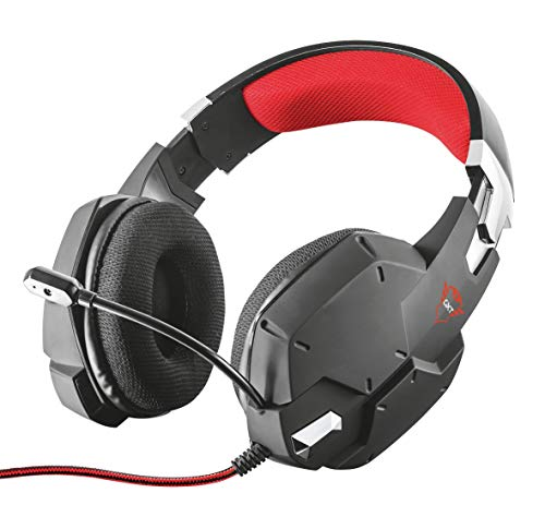 Trust Cuffie Gaming GXT 322 Carus con Microfono Flessibile, 3.5 mm Jack, Filo, Over Ear, Controllo del Volume ed Esclusione Audio del Microfono, PC, PS4, PS5, Xbox Series X, Xbox One, Switch, Nero