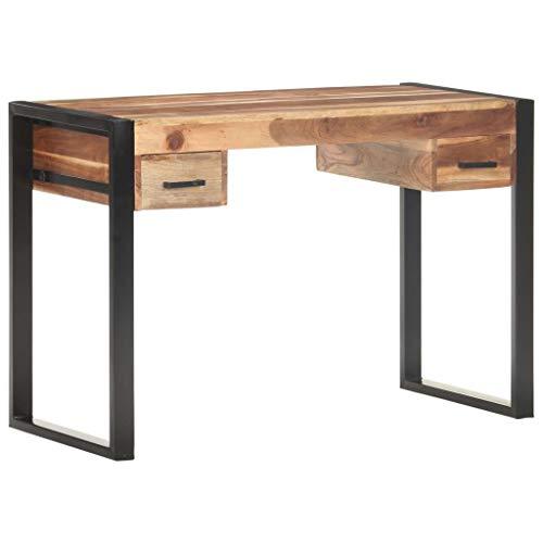 vidaXL Massivholz Schreibtisch Computertisch Bürotisch Laptoptisch Büromöbel PC Tisch Arbeitstisch Konsolentisch 110x50x76cm Palisander-Finish