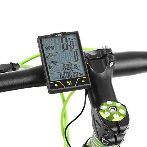 FDGBCF Ordenador de Bicicleta Sensor inalámbrico/con Cable de múltiples Funciones Bicicleta Cuentakilómetros...