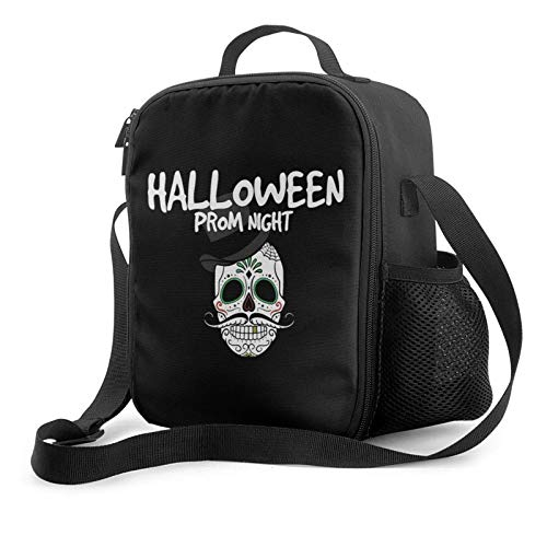 IUBBKII Bolsa de almuerzo con aislamiento HALLOWEEN PROM NIGHT Insulated Lunch Bag, Leakproof Flat Lunch Cooler Tote with Shoulder Strap for Men and Women, Suitable for Work Office