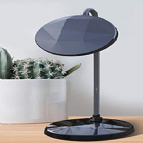 Zaklamp 3W Touch Diamond Table Lamp USB opladen LED slaapzaal Artifact Oogbescherming Children Bedroom Nachtkastje Lamp met 3-speed Instelling helderheid (zwart) Task Light for Room (Color : Black)
